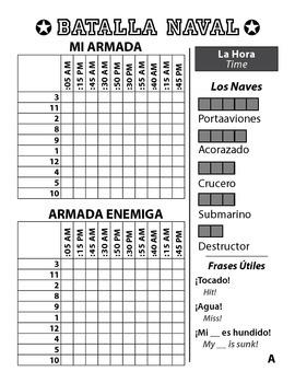 Batalla Naval - Spanish Battleship Game - Time - La Hora