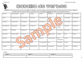 Batalla de verbos - Spanish Verb Practice Game