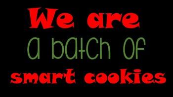 Batch of smart cookie gingerbread bulletin board