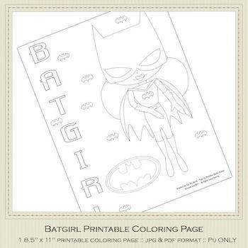 Batgirl Printable Coloring Page