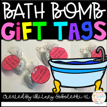 Bath Bomb Gift Tag Freebie!