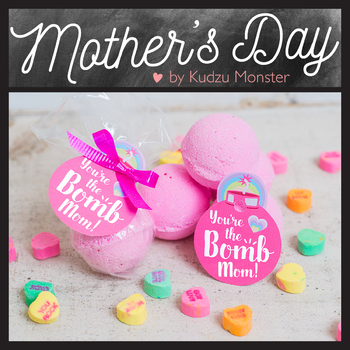 Bath Bomb Mother's Day Tags