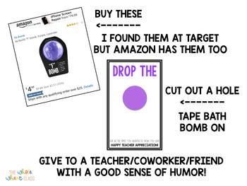 Bath Bomb Tags- Teacher Appreciation/End of Year