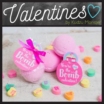 Bath Bomb Valentine Tag-Pink