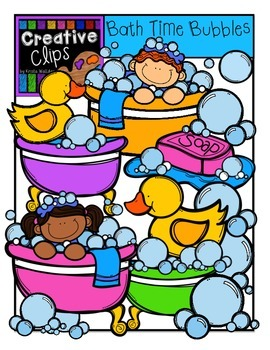 Bath Time Bubbles {Creative Clips Digital Clipart}