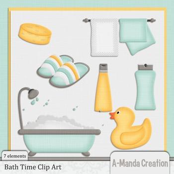 Bath Time Clip Art
