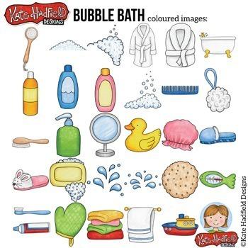 "Bath Time Clip Art: ""Bubble Bath"""