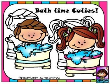 Bath Time Cuties Clipart