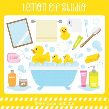 Bath Time-Digital Clipart (LES.CL16)