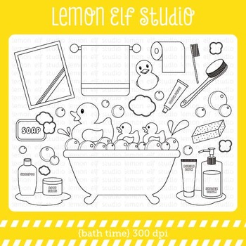 Bath Time-Digital Stamp (LES.DS16)