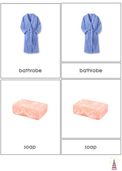 Bath Time and Personal Hygiene Montessori3-part Cards