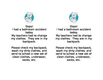 Bathroom Accident Note