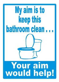 Bathroom Aim Poster