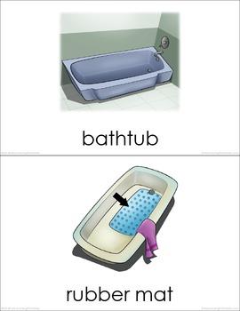 Bathroom BUNDLE (set I, II, III) Picture Flashcards
