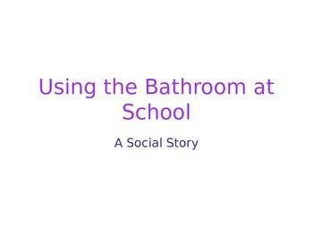 Bathroom Behavior Social Story
