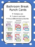 Bathroom Break Punch Cards