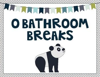 Bathroom Break Signs