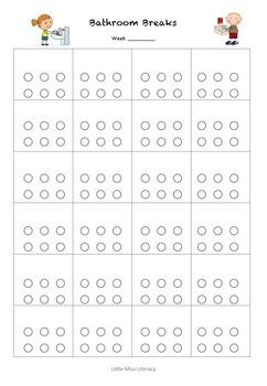 Bathroom Breaks Chart