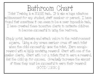 FREE Bathroom Chart- Incentive Chart for Students with Special Needs