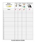 Bathroom Checklist for bathroom management and accountability!
