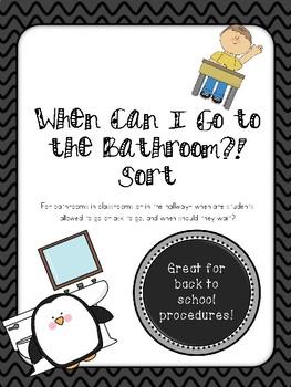 Bathroom Choices and Procedures Sort