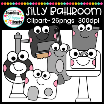 Bathroom Clipart By Victoria Saied Teachers Pay Teachers New Bathroom Clipart Set