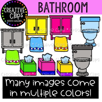 Bathroom Clipart {Creative Clips Clipart}