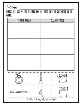 Bathroom Coloring Book & Worksheets