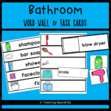 Bathroom Word Wall and Task Cards