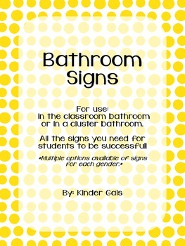 Bathroom Door Signs and Reminders