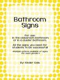 Bathroom Door Signs and Reminders