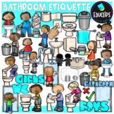 Bathroom Etiquette Clip Art Bundle {Educlips Clipart}