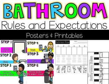 Bathroom Expectations Posters & Printables {Color & B/W}