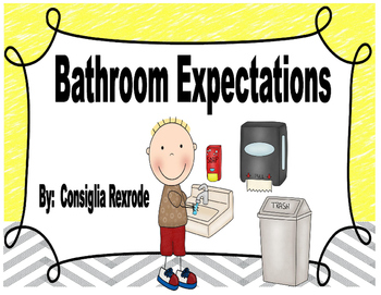 Bathroom Expectations,Rules,Reminders (Visuals)