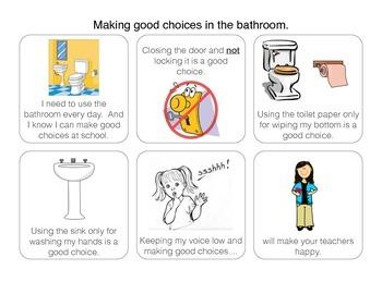 Social Story: Bathroom Good Choices