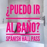 Bathroom Hall Pass in Spanish ¿Puedo ir al baño? ¿Puedo ir