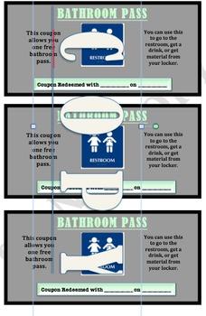 Bathroom/Hallpass Coupon