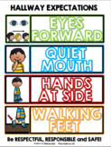 Bathroom/Hallway/Playground/End of Recess/Lunchroom Expectations Signs BUNDLED