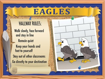 Bathroom & Hallway Rules Poster Set