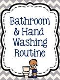 Bathroom & Hand Washing Routine Signs