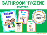 Bathroom Hygiene Posters - Brights