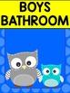 Bathroom Hygiene Posters - Patchwork Owls