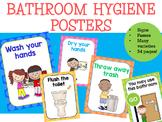 Bathroom Hygiene Posters - Two Tone Polka Dots