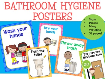 Hygiene Signs For Bathrooms Personal Hygiene Rules Sign