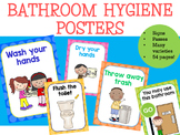 Bathroom Hygiene Posters - Two Tone Polka Dots