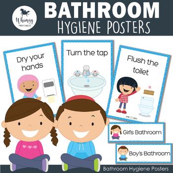 Bathroom Hygiene Posters By Whimsy Printables Teachers Pay Teachers