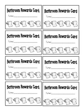 Bathroom Incentive Card