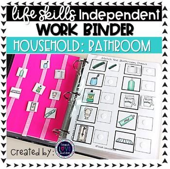 Bathroom Independent Work Tasks