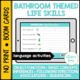 Bathroom Life Skills BOOM Cards™️ Speech Therapy Distance