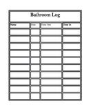 Bathroom Log